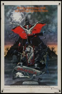 2f049 ANDY WARHOL'S DRACULA style B 1sh 1974 cool art of vampire Udo Kier as Dracula by Barr!