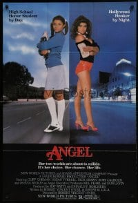 2f051 ANGEL 1sh 1983 high school honor student by day, Hollywood hooker at night!