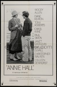 2f054 ANNIE HALL 1sh 1977 full-length Woody Allen & Diane Keaton in a nervous romance!