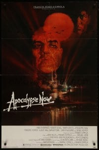 2f058 APOCALYPSE NOW 1sh 1979 Francis Ford Coppola, classic Bob Peak art of Brando and Sheen!