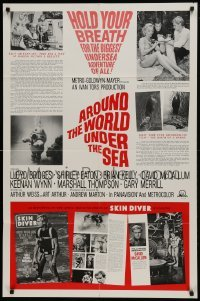 2f060 AROUND THE WORLD UNDER THE SEA 1sh 1966 Lloyd Bridges, McCallum, Skin Diver magazine!
