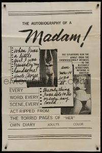 2f068 AUTOBIOGRAPHY OF A MADAM heavy stock 1sh 1960s blatantly sensational, nothing is omitted!