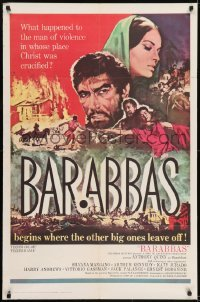 2f073 BARABBAS 1sh 1962 Richard Fleischer, Frank McCarthy art of Anthony Quinn & Silvana Mangano!