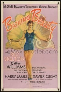 2f080 BATHING BEAUTY style C 1sh 1944 full-length art of sexy Esther Williams in swimsuit!