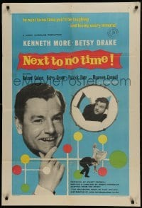 2f636 NEXT TO NO TIME English 1sh 1958 Kenneth More, you'll be laughing and loving every minute!