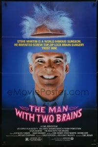 2f568 MAN WITH TWO BRAINS 1sh 1983 wacky world famous surgeon Steve Martin performs brain surgery!