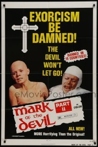 2f574 MARK OF THE DEVIL 2 1sh 1974 banned in 19 countries, more horrifying than the original!