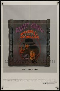 2f578 McCABE & MRS. MILLER 1sh 1971 Robert Altman, Warren Beatty, Julie Christie, Amsel art!