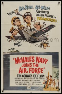 2f580 McHALE'S NAVY JOINS THE AIR FORCE 1sh 1965 great art of Tim Conway in wacky flying ship!