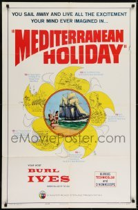 2f582 MEDITERRANEAN HOLIDAY 1sh 1964 Burl Ives, German, all the excitement your mind ever imagined!