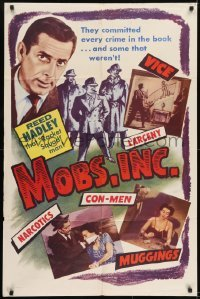 2f597 MOBS, INC. 1sh 1956 Reed Hadley, Marjorie Reynolds, vice, narcotics, and more!