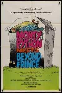 2f601 MONTY PYTHON MEETS BEYOND THE FRINGE 1sh 1976 Pleasure at Her Majesty's, wacky art!
