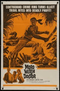 2f605 MORO WITCH DOCTOR 1sh 1964 Jock Mahoney vs. contraband crime ring, deadly profit!