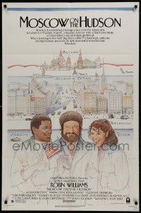 2f606 MOSCOW ON THE HUDSON 1sh 1984 great artwork of Russian Robin Williams by Craig!
