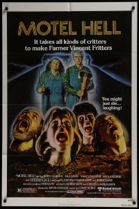2f609 MOTEL HELL 1sh 1980 it takes all kinds of critters to make Farmer Vincent Fritters!