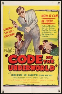 2f613 MURDER IN VILLA CAPRI 1sh 1955 directed by Otto Simetti, Code of the Underworld!