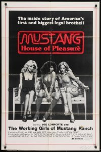 2f616 MUSTANG HOUSE OF PLEASURE 1sh 1975 The Mustang Ranch, inside America's biggest legal brothel!