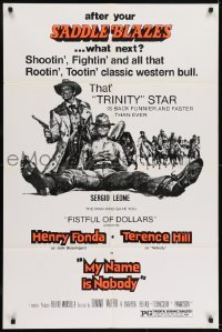 2f618 MY NAME IS NOBODY 1sh 1974 Il Mio nome e Nessuno, Henry Fonda, Terence Hill