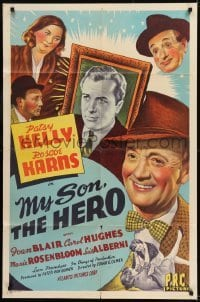 2f619 MY SON, THE HERO 1sh 1943 directed by Edgar Ulmer, Patsy Kelly, Roscoe Karns