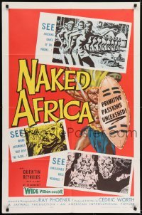 2f620 NAKED AFRICA 1sh 1957 AIP shockumentary, primitive passions unleashed!