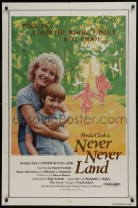 2f630 NEVER NEVER LAND 1sh 1981 Petula Clark acts and sings, Mark Burdis, John Castle!