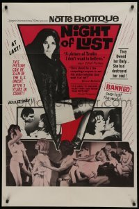 2f639 NIGHT OF LUST 1sh 1965 Le concerto de la peur, images of sexy topless women!