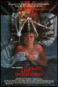 2f642 NIGHTMARE ON ELM STREET 1sh 1984 horror, art of Langenkamp & Robert Englund by Matthew Peak!