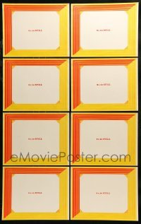 2g023 LOT OF 8 11X14 PRINTED BACKGROUNDS FOR 8X10 STILLS 1960s display stills as lobby cards!