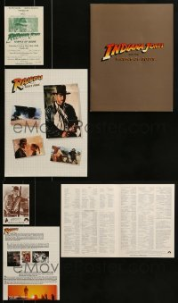 2g039 LOT OF 3 INDIANA JONES PROMO ITEMS 1980s from Raiders of the Lost Ark & Temple of Doom!
