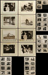 2g021 LOT OF 43 8X10 STILLS ON 11X14 BACKGROUNDS 1950s scenes from a variety of movies!