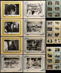 2g019 LOT OF 30 8X10 STILLS ON 11X14 BACKGROUNDS 1950s-1970s scenes from a variety of movies!