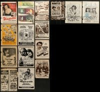 2g009 LOT OF 15 MOVIE MAGAZINE ADS 1940s-1970s great images from a variety of different movies!