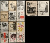 2g008 LOT OF 14 MOVIE MAGAZINE ADS 1940s-1950s great images from a variety of different movies!