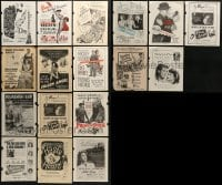 2g010 LOT OF 17 MOVIE MAGAZINE ADS 1940s-1950s great images from a variety of different movies!