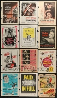 2g007 LOT OF 12 COLOR MOVIE MAGAZINE ADS 1940s-1950s great images from a variety of movies!