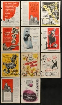 2g006 LOT OF 11 COLOR MOVIE MAGAZINE ADS 1940s-1950s great images from a variety of movies!