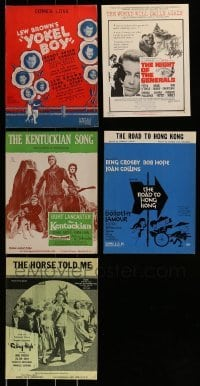 2g015 LOT OF 5 SHEET MUSIC 1940s-1960s great songs from a variety of different movies!