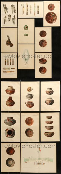 2g026 LOT OF 17 PLATES FROM THE 11TH REPORT OF BUREAU OF ETHNOLOGY TO SMITHSONIAN INSTITUTION 1890