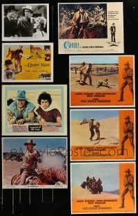 2g025 LOT OF 8 JOHN WAYNE REPRO PHOTOS 1980s great images from a variety of different movies!