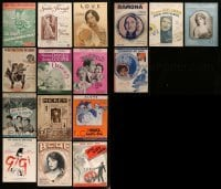 2g014 LOT OF 16 SHEET MUSIC 1910s-1950s great songs from a variety of different movies!