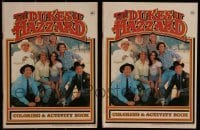 2g037 LOT OF 2 DUKES OF HAZZARD COLORING & ACTIVITY BOOKS 1981 cool collectible!