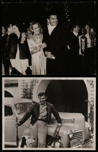 2g024 LOT OF 2 CLARK GABLE DELUXE RE-STRIKE 11X14 STILLS 1960s with Carole Lombard & more!