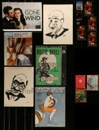 2g036 LOT OF 16 MISCELLANEOUS ITEMS 1930s-2010s movie promos, art prints, sheet music & more!