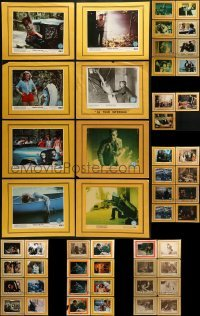 2g022 LOT OF 51 8X10 STILLS ON 11X14 BACKGROUNDS 1970s-1980s scenes from a variety of movies!