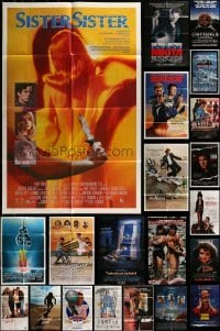 2g029 LOT OF 28 FOLDED VIDEO POSTERS 1980s great images from a variety of different movies!