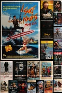 2g030 LOT OF 34 FOLDED VIDEO POSTERS 1980s-1990s great images from a variety of different movies!