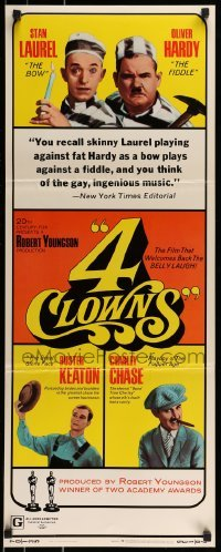 2j006 4 CLOWNS insert 1970 Stan Laurel & Oliver Hardy, Buster Keaton, Charley Chase