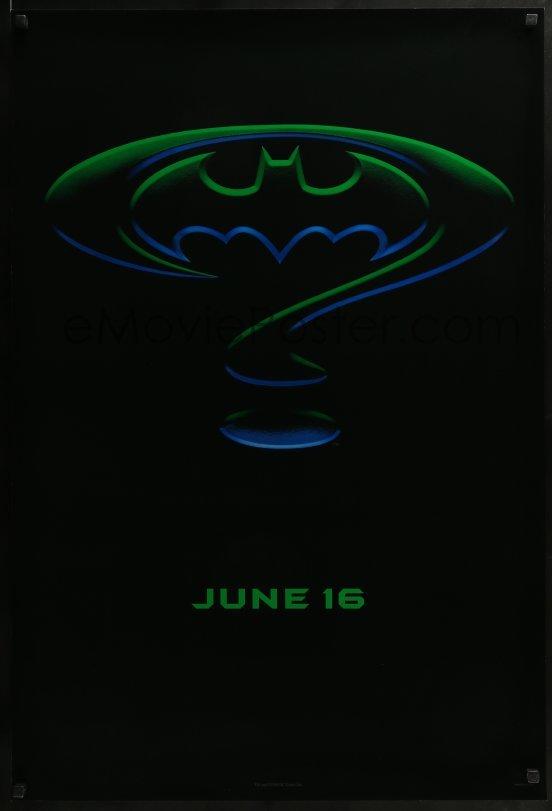 Emovieposter 2k088 Batman Forever Teaser Ds 1sh 1995 Kilmer