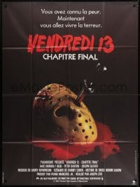 2p802 FRIDAY THE 13th - THE FINAL CHAPTER French 1p 1984 slasher sequel, knife in hockey mask!