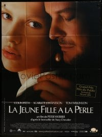2p813 GIRL WITH A PEARL EARRING French 1p 2004 c/u of Colin Firth & sexy Scarlett Johansson!